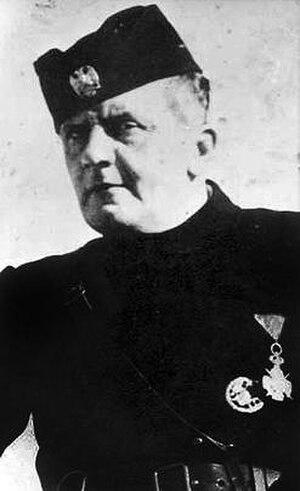 Dobroslav Jevđević - Jevđević in uniform, wearing the Order of Karađorđe's Star