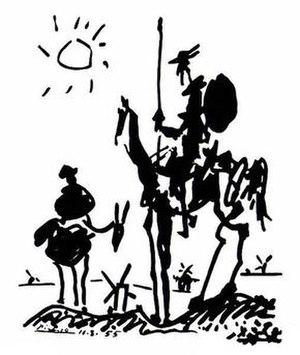 Don Quixote (Picasso) - Image: Don Quixote (1955) by Pablo Picasso