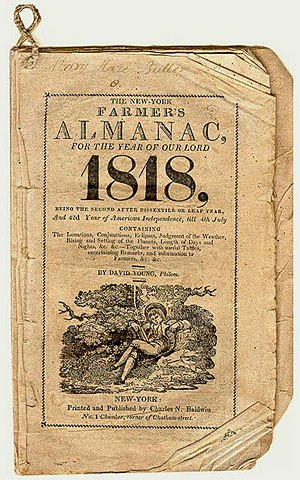 Farmers' Almanac - The first edition of the Farmers' Almanac, from 1818