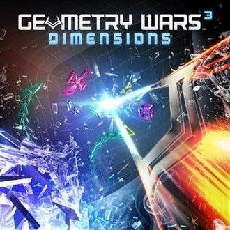 Geometry Wars 3: Dimensions - Cover art