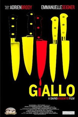 Giallo (film) - Theatrical release poster