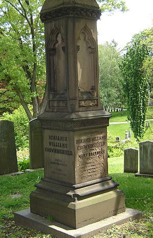 Benjamin Williams Crowninshield - Crowninshield's grave at Mount Auburn