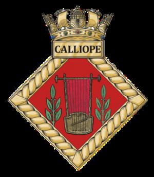 HMS Calliope (shore establishment) - Image: HMS Calliope badge