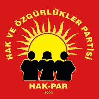 Rights and Freedoms Party - Image: Hak ve özgürlükler partisi logo