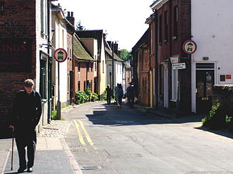 Aylsham - Hungate Street, with its many medieval half-timbered houses, was formerly the main road into the town from Norwich