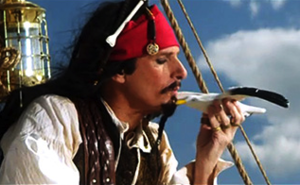 Jack Sparrow (song) - Michael Bolton as Jack Sparrow in the song's music video, broadcast as an ''SNL'' Digital Short.