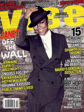 Vibe (magazine) - Janet Jackson on the cover of Vibe