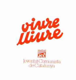 Communist Youth of Catalonia - JCC sticker