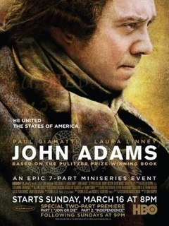 <i>John Adams</i> (miniseries) 2008 American television miniseries chronicling US President John Adamss political life