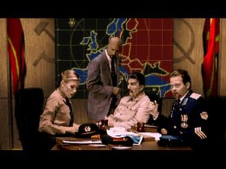 Command & Conquer: Red Alert - Kane (standing) advises Joseph Stalin (center), with Nadia (left) and Gradenko (right).