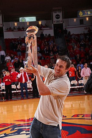 Case Keenum - Keenum accepting the College Football Performance Award for 2009 at Hofheinz Pavilion