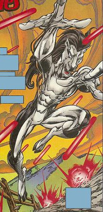 Kid Colt - Elric (Kid Colt II) in his horse form. Art by Mark Bagley.