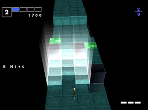 I.Q.: Intelligent Qube - A screenshot of gameplay. The player has just triggered an advantage cube.