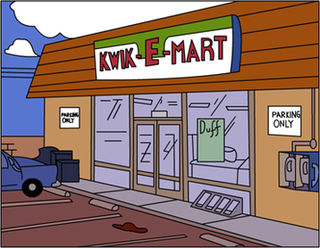 Kwik-E-Mart fictional shop in the television series The Simpsons