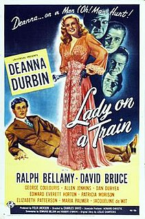 <i>Lady on a Train</i> 1945 film by Charles David