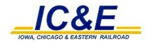 Iowa, Chicago and Eastern Railroad - Image: Logo of the Iowa, Chicago and Eastern Railroad