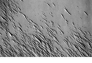 Yardangs on Mars - Image: Medusae Fossae Formation