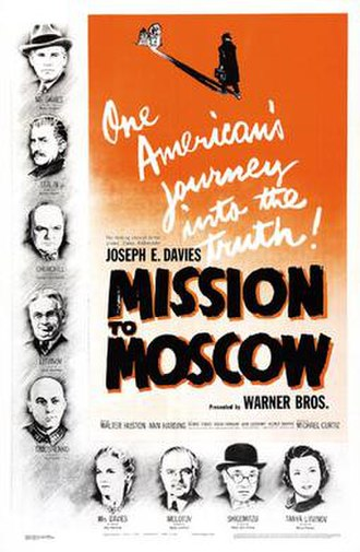 Mission to Moscow - theatrical release poster