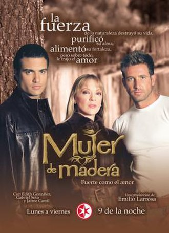Mujer de madera - Poster with Edith González