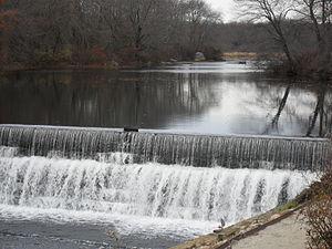Mumford River - Mumford River's Capron Falls. Water powered early Uxbridge mills