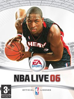 <i>NBA Live 06</i> 2005 basketball video game