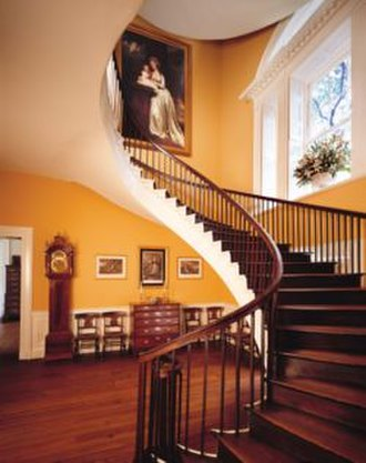 Nathaniel Russell House - Elliptical spiral staircase, which ascends three floors