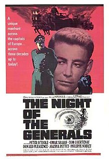 <i>The Night of the Generals</i> 1967 film by Anatole Litvak