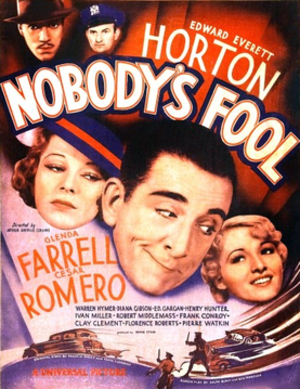 Nobody's Fool (1936 film) - Movie poster