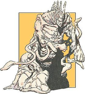 Scramble (comics) - Scramble merges with Roger Bochs to form the hideously deformed Omega. Art by Jim Lee.