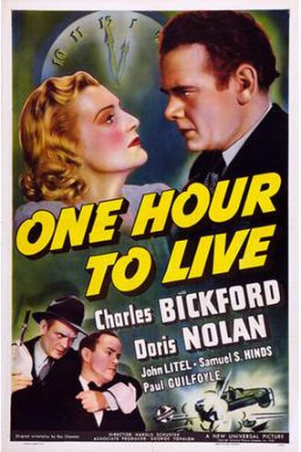 One Hour to Live - Theatrical release poster