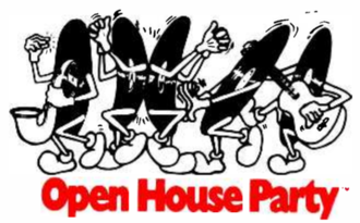 Open House Party - The original logo for Open House Party, which was used from 1987 to some time in the early 1990s.