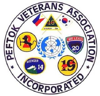 Philippine Expeditionary Forces to Korea - PEFTOK Veterans Association Inc. Logo