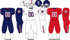 2011 Arizona Wildcats football team - Image: Pac 10 Uniform UA 2010