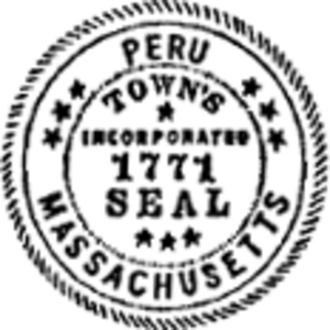 Peru, Massachusetts - Image: Peru MA seal