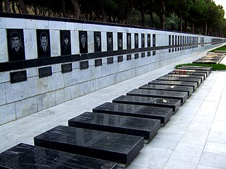 Black January - Victims of Black January in Martyrs' Lane, Baku.