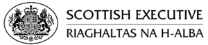 "The Scottish Executive's original logo, shown with English and Scottish Gaelic caption. The logo was replaced in September 2007, with the name changed to ""Scottish Government"", and the Flag of Scotland used instead of the Royal Arms."
