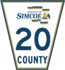 Simcoe Road 20 sign.png