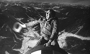 "Slim Pickens - Slim Pickens as Major ""King"" Kong riding a nuclear bomb to oblivion in Dr. Strangelove"