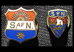 Sons of Norway - Vintage Sons of Norway lapel pins worn by members.