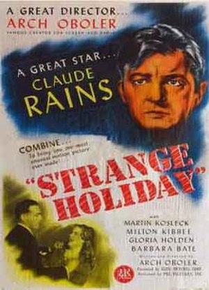 Strange Holiday (1945 film) - Theatrical poster for the film