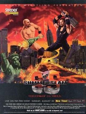SummerSlam (1998) - Promotional poster featuring Stone Cold Steve Austin and The Undertaker