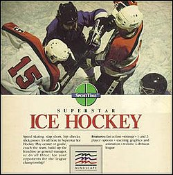 Superstar Ice Hockey ROM Download for Commodore 64 / C64