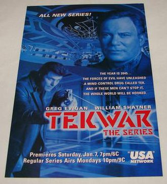 TekWar (TV series) - USA Network flyer promoting the series