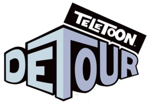 Teletoon at Night - Teletoon Detour logo used from 2008 to 2009.