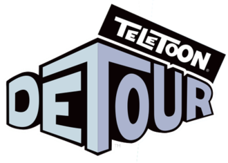 Teletoon at Night - Final Teletoon Detour logo, 2008 to 2009; The new version does not have the word TELETOON on top.