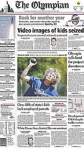 <i>The Olympian</i> Newspaper in Olympia, Washington, US