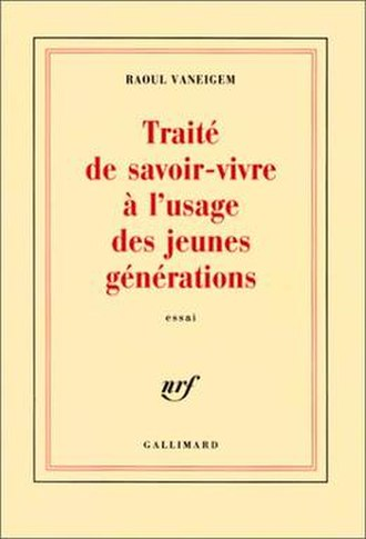 The Revolution of Everyday Life - Cover of the Gallimard edition