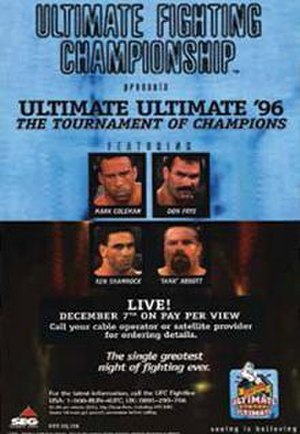 Ultimate Ultimate 1996 - Image: UFC Ultimate Ultimate '96