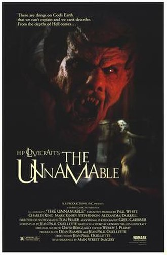 The Unnamable (film) - Release poster