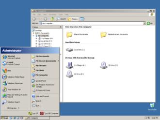 Windows XP visual styles - Image: Windows XP Classic